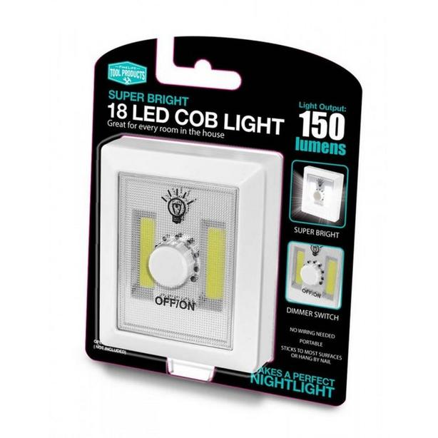 COB Wireless LED Wall Nightlight with Dimmer Switch 3-Ways to Install 8 Lot NEW