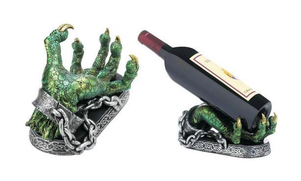 Green Dragon Claw Hand Wine Bottle Holder Bulk Buy of 6 Gifts Resale