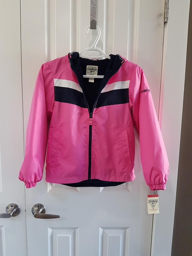 NWT - Pink Fleece Lined Spring Jacket (Size 8.) - $10