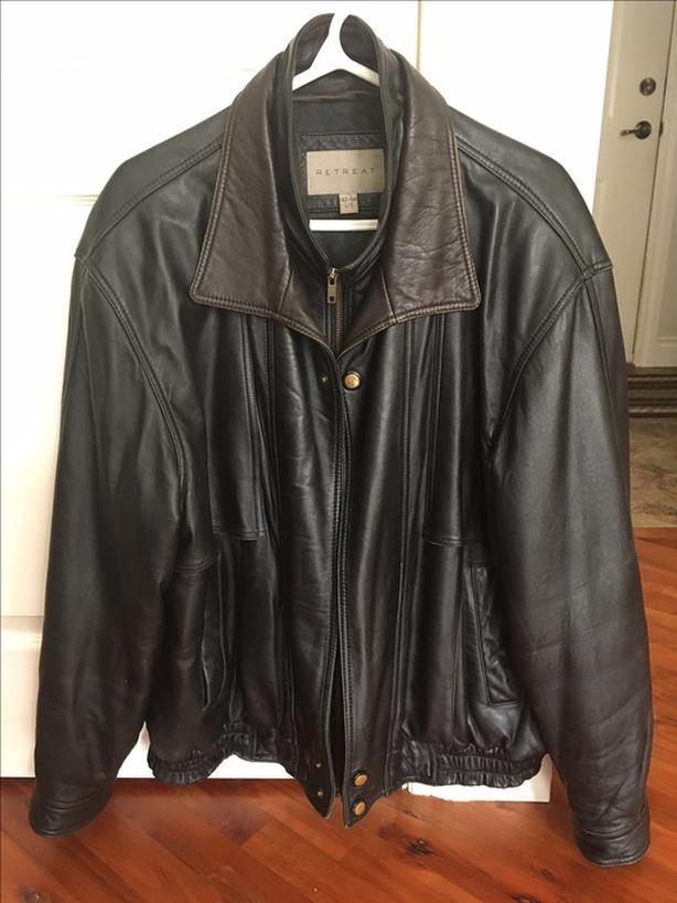 Beautiful quality men's leather jacket