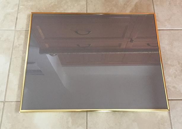 "Brass tone 18"" x 23"" Photo/Poster Frame"