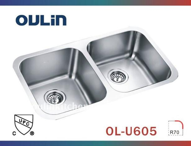 Oulin Double Kitchen Sinks (new in boxes)