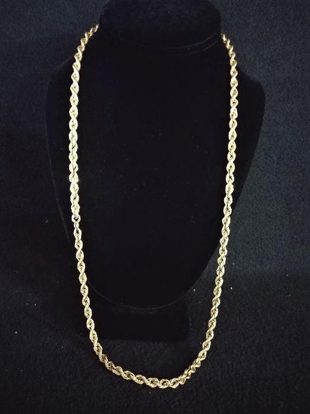 "#164876-1 Heavy 14K Yellow Gold 28"" Rope Chain"