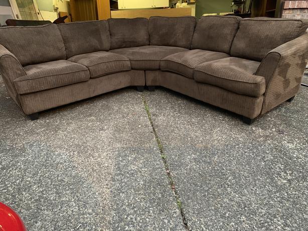 Chenile sectional sofa