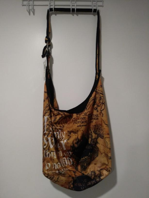 "HOT TOPIC HARRY POTTER WARNER BROS ""SOLEMNLY SWEAR"" MARAUDER'S MAP HOBO BAG"
