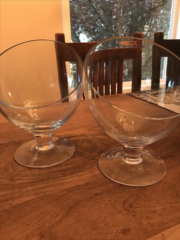 Oversized Decorative Glass Bowls