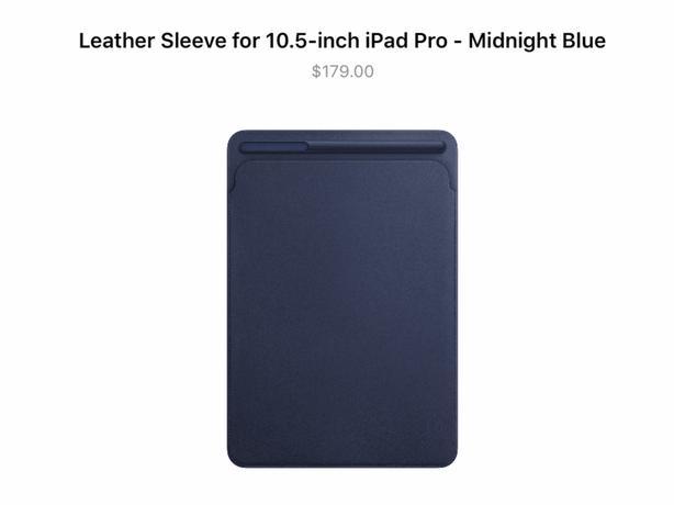 Apple Black iPad Leather Sleeve