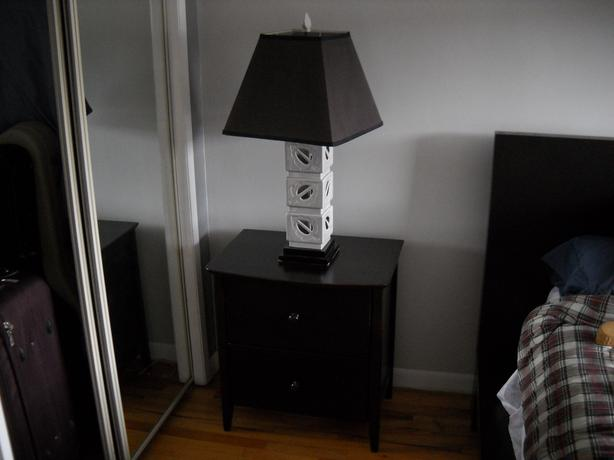 Bedside Table And Lamps