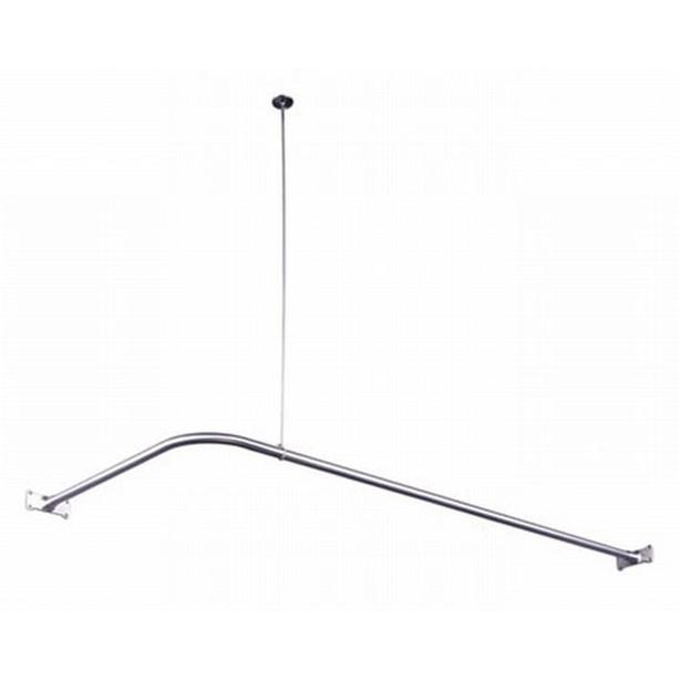 Chrome Corner Shower Rod