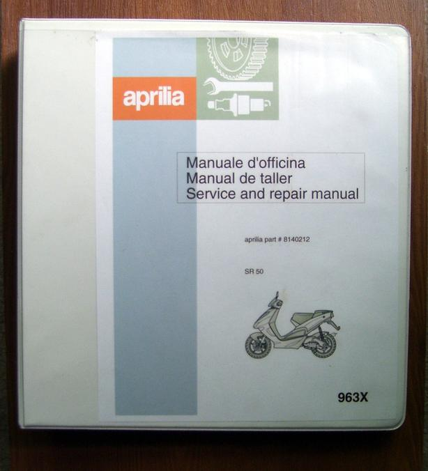 Aprilia SR 50 Workshop Manual