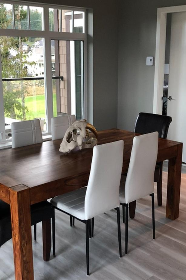 four brand new white dining chairs