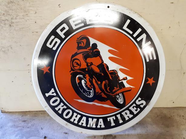 Metal ad sign for Yokohama tires