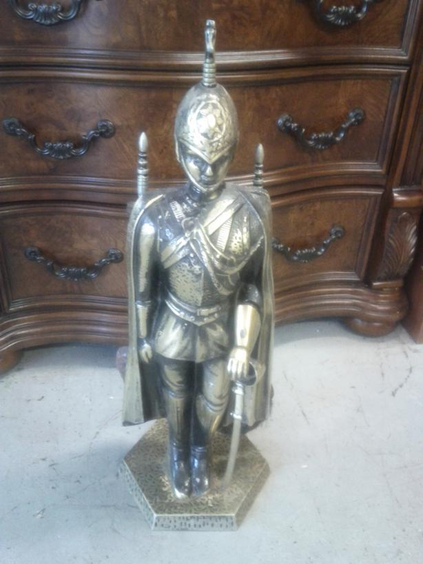 Armored Man with Fire Utensils