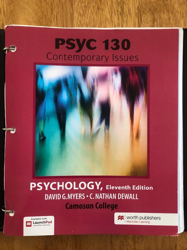 Psyc 130 - Contemporary Issues