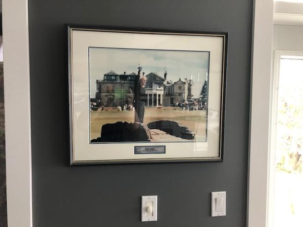 "Framed Photo of Arnold Palmer ""Farewell to St. Andrews"""