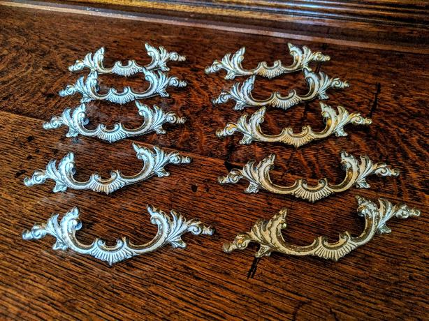 Beautiful Set of Ten Matching Vintage Drawer Pulls in Lovely Condition!