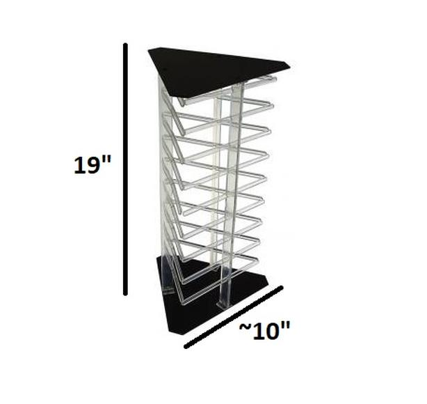 Rotating Acrylic Jewelry Display