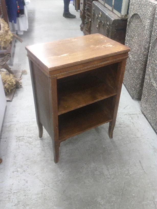 Wood Side Table with Shelf