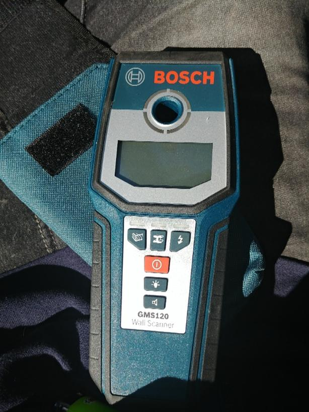 new bosch wall scanner (gms 120) includes manual