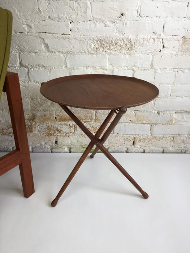 Mid-century Modern teak tray table - Made in Sweden