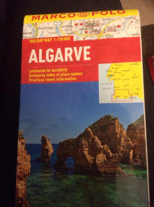 Laminated Map of Algarve Portugal ($11)