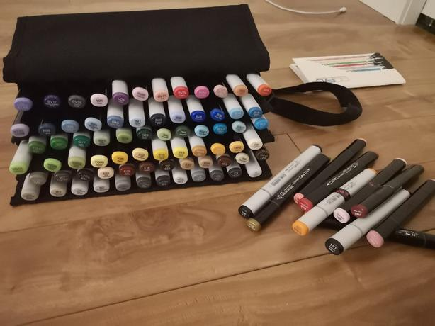 82 Assorted Copic Sketch Markers + 72PC Carrier