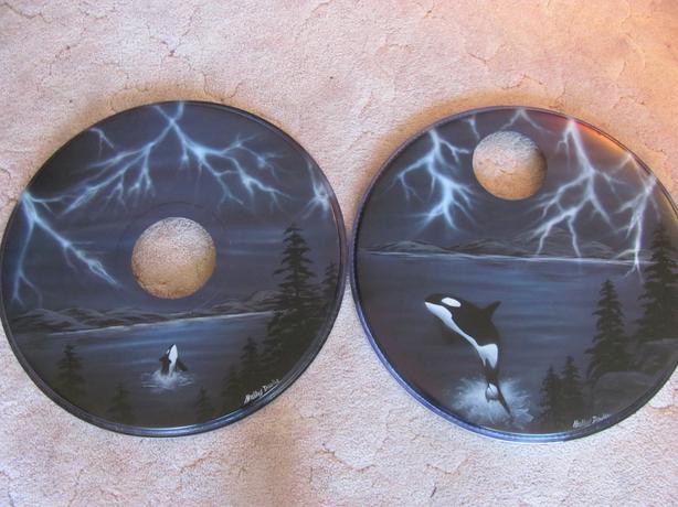 Shelley Davies Drum Artwork