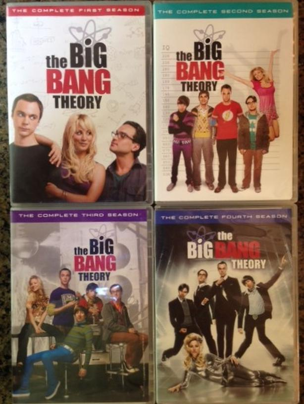 The Big Bang Theory DVD Seasons 1, 2, 3 and 4