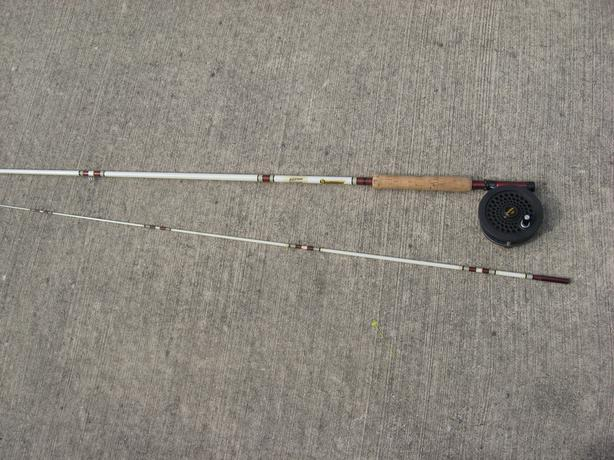Shakespeare professional fly fishing rod and berkley reel