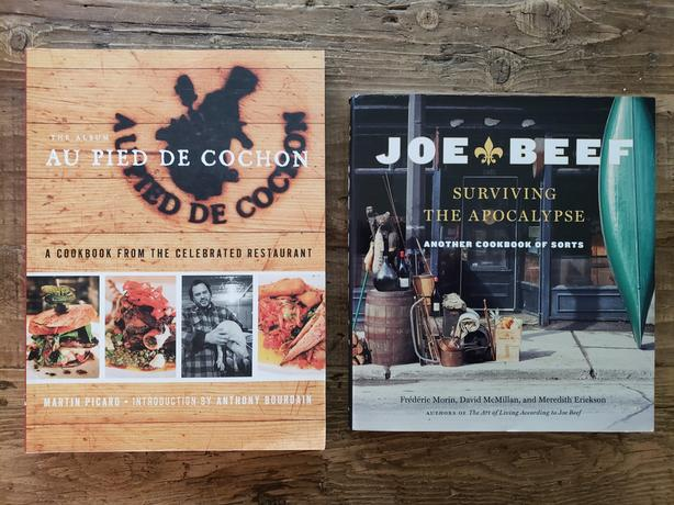 MINTY FRESH! Joe Beef / Au Pied de Cochon COOKBOOKS!