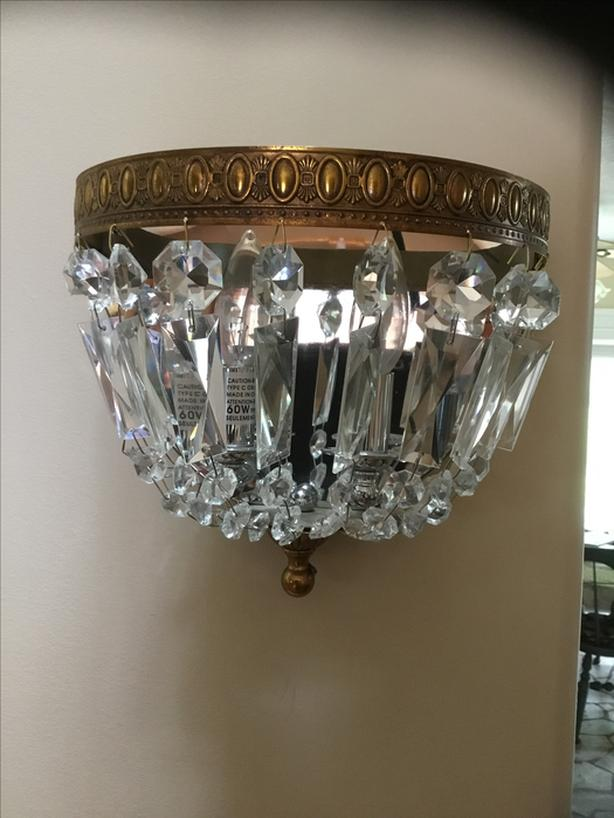 2 crystal. sconces.