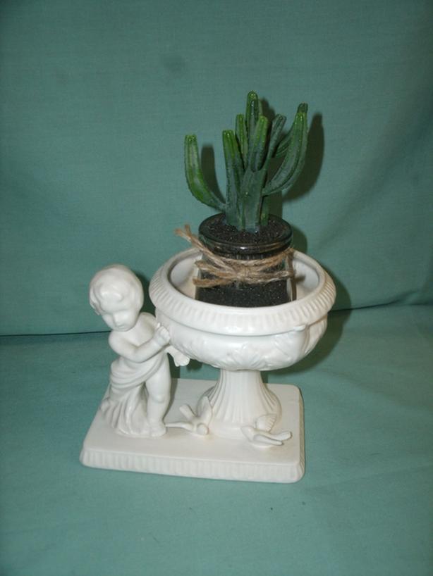 Boy with white Flower Pot / Plant pot