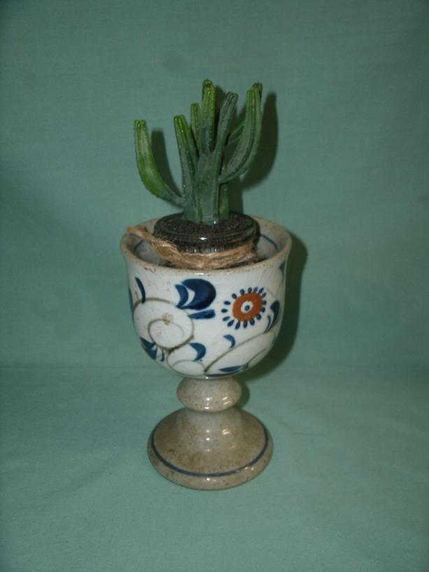 Pottery Wine Goblet - Pedestal Flower Pot