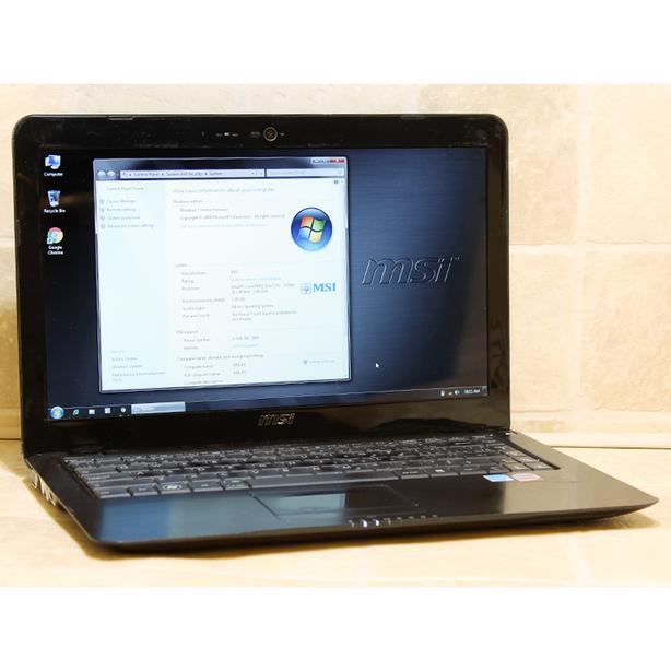 """MSI X340 Laptop Computer Core2 HDMI WiFi 2GB RAM 320GB 13 4"""""""