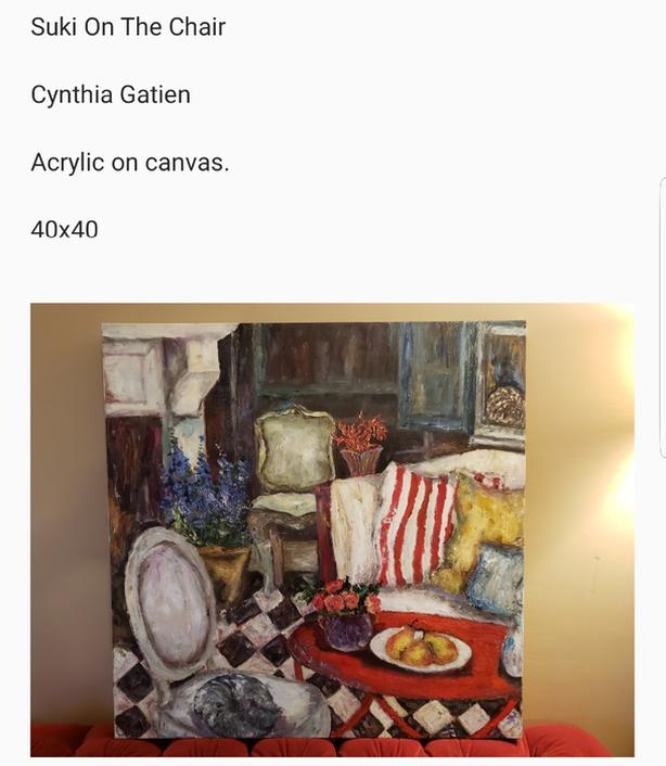 (PRICE DROPPED AGAIN) Two 1/1 Original Cynthia Gatien Paintings