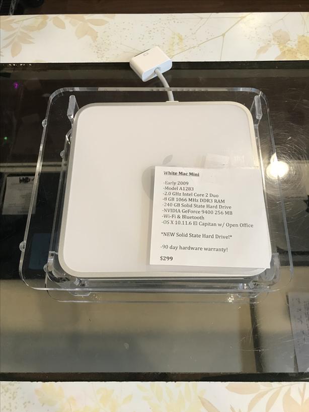 White Mac Mini 2.0GHz Core 2 Duo 8GB RAM 240GB SSD w/ Warranty!