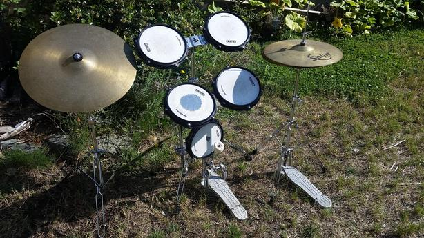 practice pads, kick pedal, cymbal and high hat Victoria City, Victoria