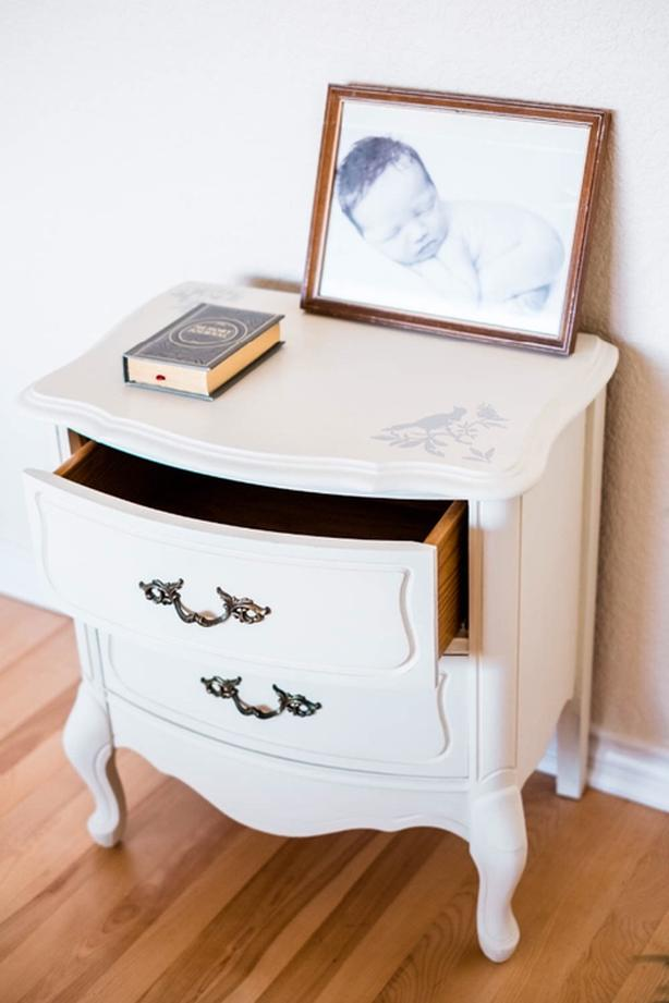 Retro Style Container Bedside Table: Vintage Refurbished Bedside Table Saanich, Victoria