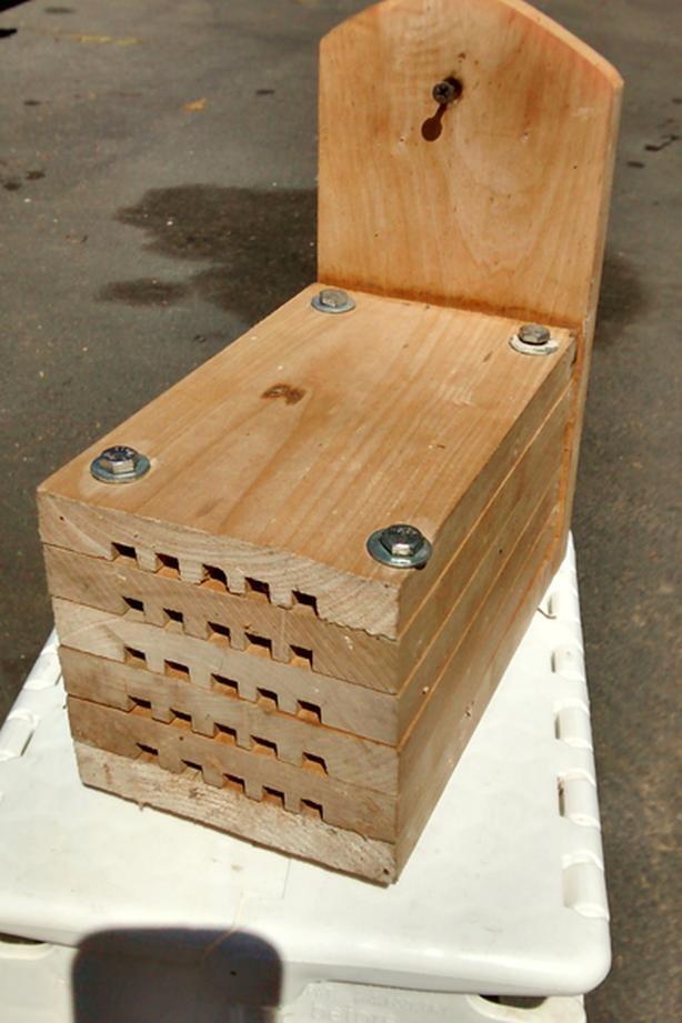 Mason bee nest boxes
