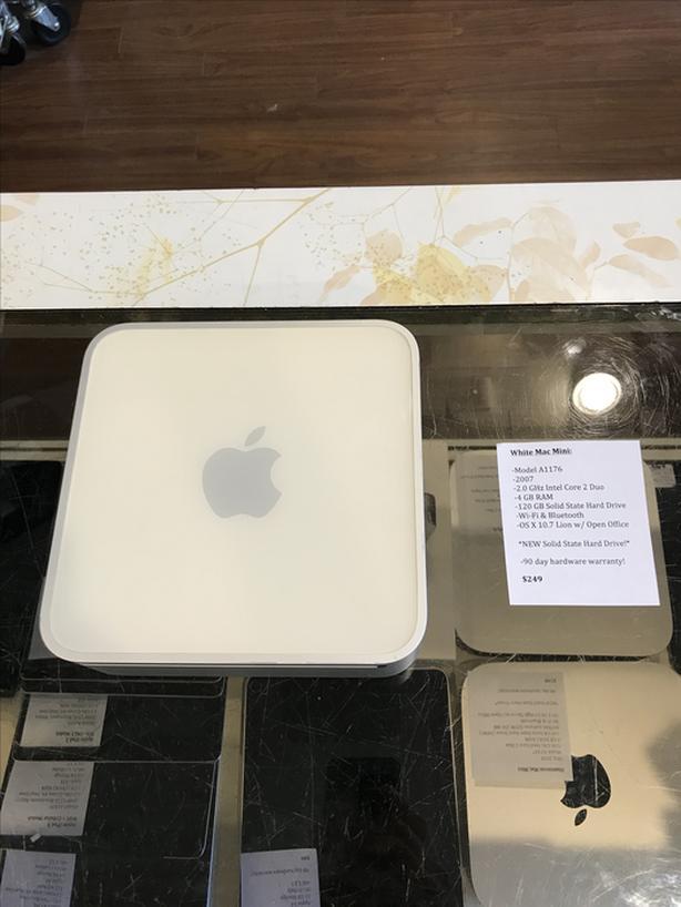 SALE! White Mac Mini 2.0GHz Core 2 Duo 4GB RAM 120GB SSD w/ Warranty!