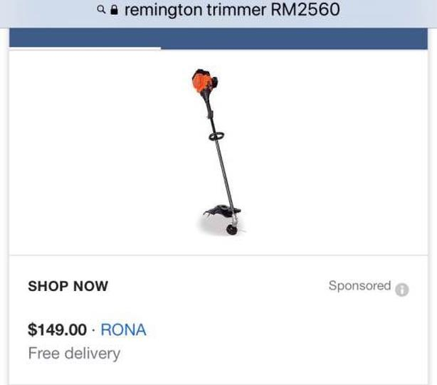 Remington Rustler Weed Trimmer - AS NEW! $120 OBO Saanich