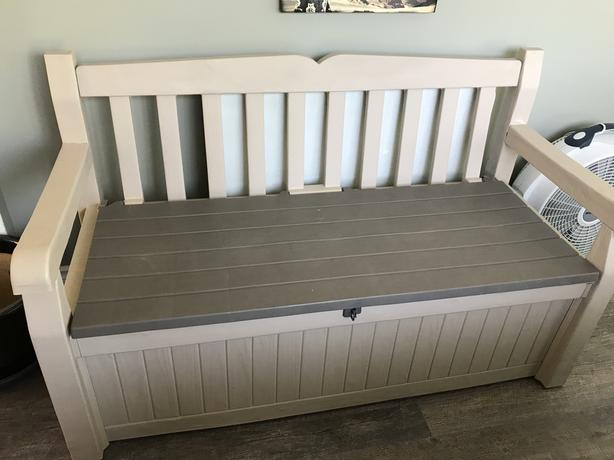 Awe Inspiring Patio Storage Bench Saanich Victoria Forskolin Free Trial Chair Design Images Forskolin Free Trialorg