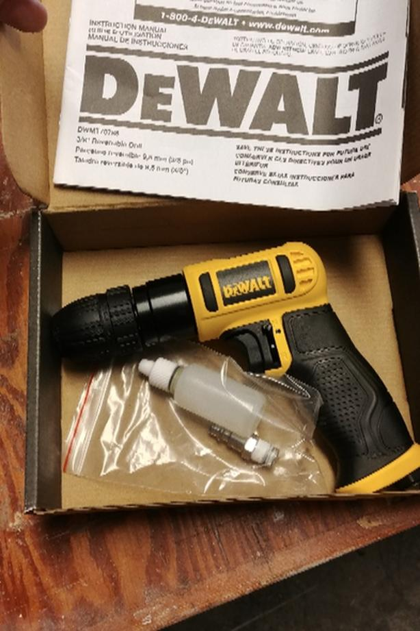 new dewalt air drill