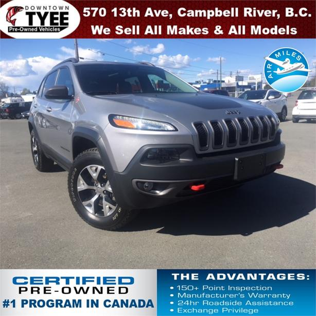 2016 Jeep Cherokee Trailhawk 4x4 Bluetooth Navigation Sunroof