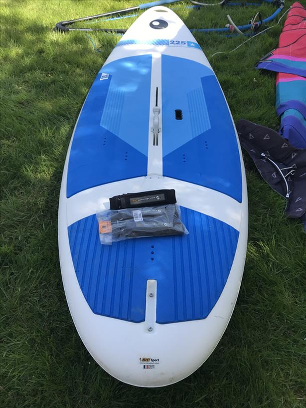  Log In needed $350 · Bic Beach 225D beginner-intermediate windsurf board  with complete sails