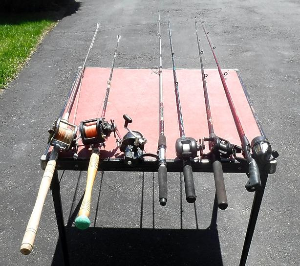 6 Fishing Rods and Reels
