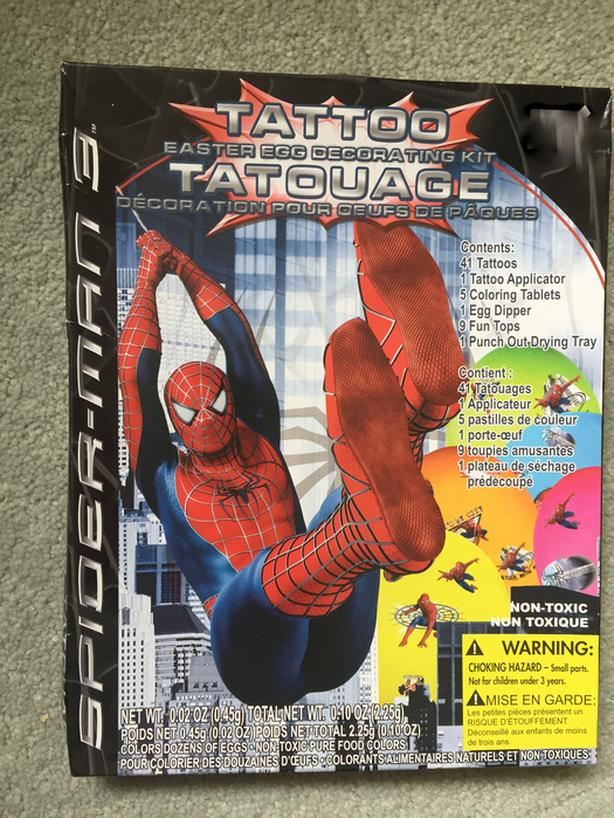 Spiderman Easter egg decorating kit