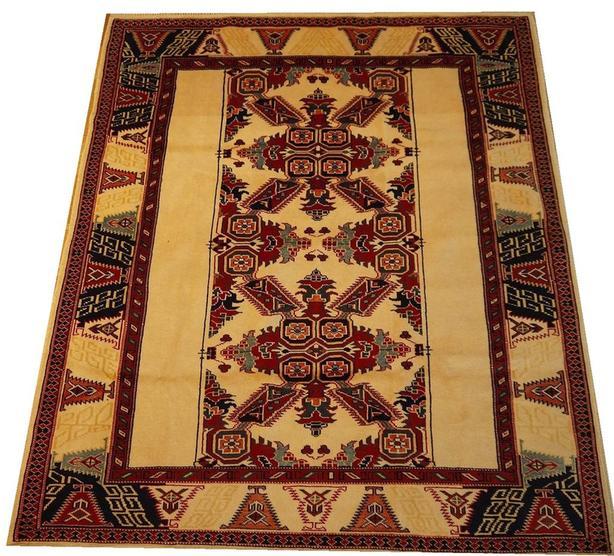 19191-Kazak Hand-Knotted/Handmade Afghan Tribal/Nomadic Authentic