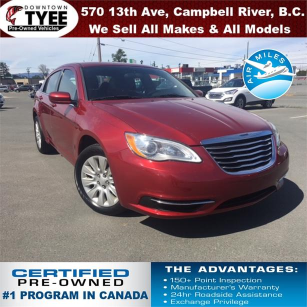2013 Chrysler 200 LX Accident Free Low Kms BC Car