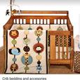 Baby jungle themed nursery crib set